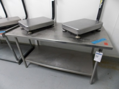 """Lot 51 - Stainless Table top 
