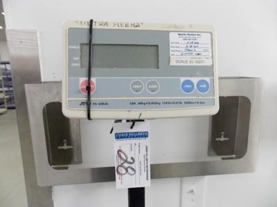 Lot 28 - 150 Lb Capacity Scale   Digital Platform Scale, 150lb. Cap Scale I.D. M201   MODEL# FG-60KAL  