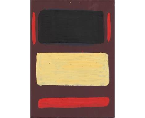 "Artist: Mark Rothko (Latvian/American, 1903-1970). Title: ""Untitled No.7 [small-scale]"". Medium: Oil on wood panel. Date: Com"