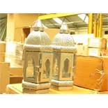 Box of 2x silver candle lanterns, new and boxed.