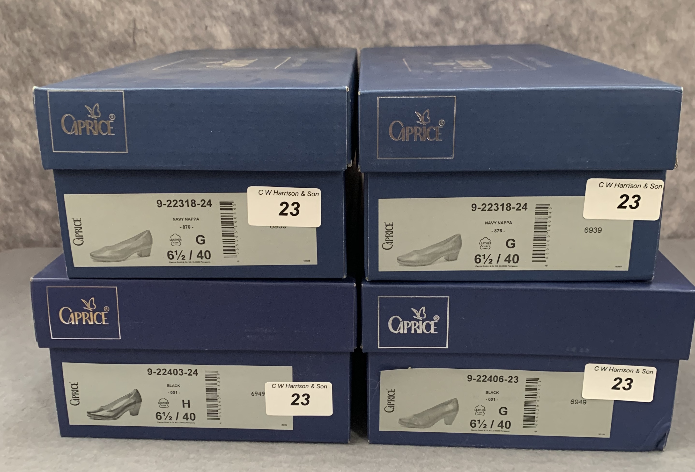 Four pairs of Caprice ladies shoes in black (2) and ocean (2), various styles, size 6½, - Image 2 of 2
