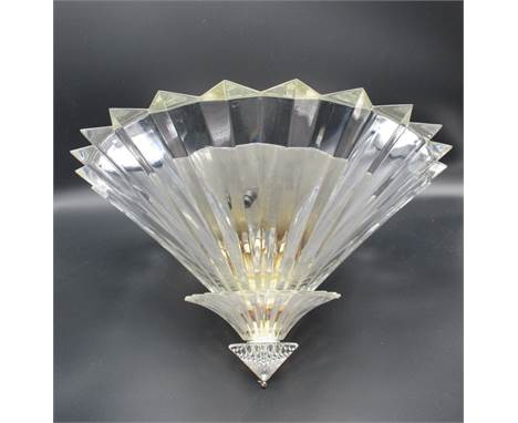 """A Baccarat Mille Nuits crystal ceiling light with three prism design tiers, signed Mathias, 9""""h, 15 1/2""""dia"""