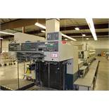 Komori Model L640 6 Color Sheet Fed Press and EZ Turner Model L241 Lithrome 40 Color Viewing Station