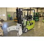"Clark Model TMG20 2500lb, 188"" Lift, Solid Tired, 36 Volt Electric Forklift, Cascade Rotating"