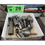 LOT/ DRILL CHUCKS, COLLETS AND TOOL SLEEVES