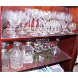 A cut glass part table service and other cut glass, etc