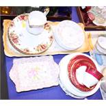"""A collection of """"Old Country Roses"""" pattern plates, in sizes, a Susie Cooper """"Strawberry"""" pattern"""