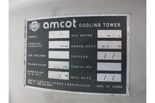 Amcot Cooling Tower Model St30 S N 95976