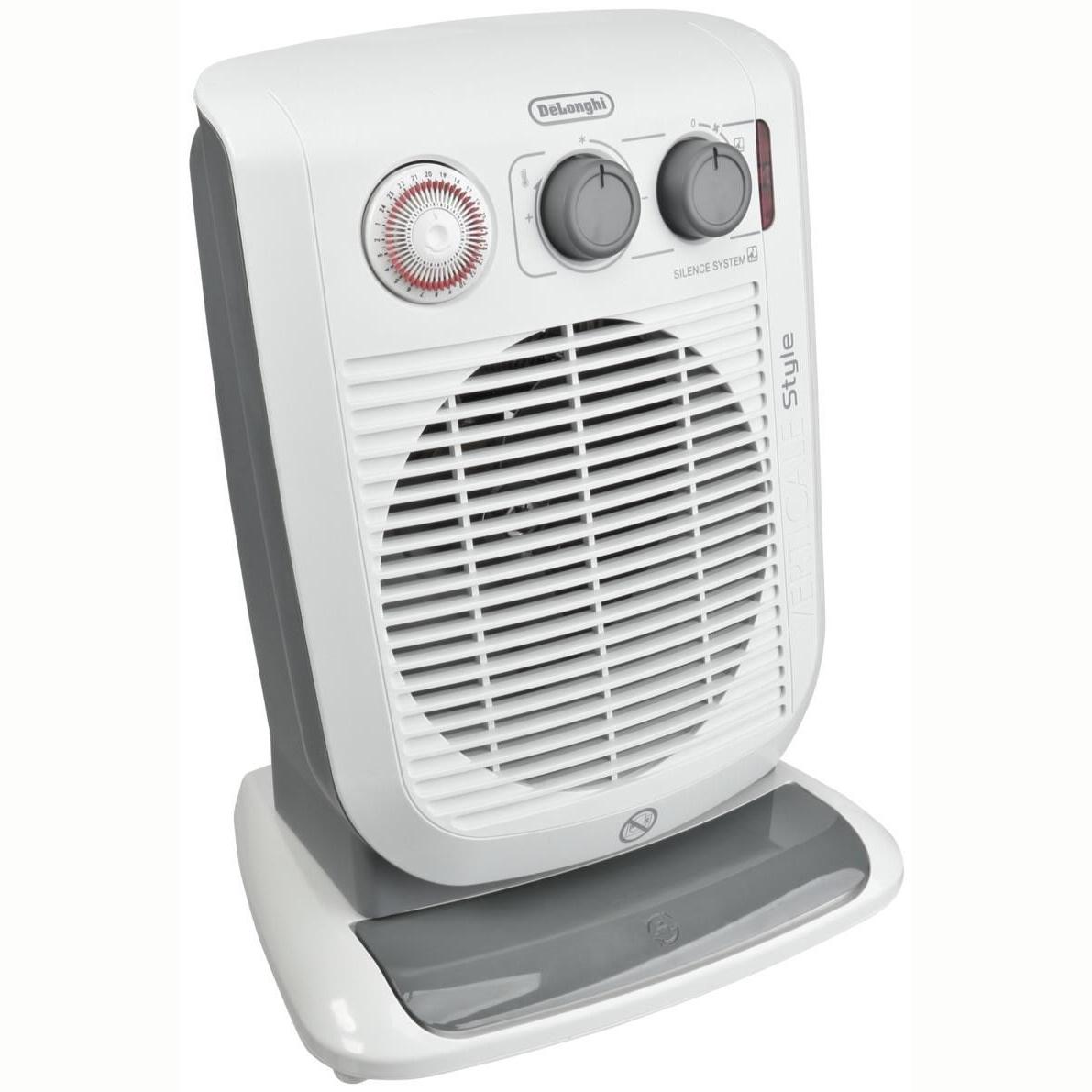 + VAT Brand New Delonghi HVF 3552 TB Upright Fan Heater - 3 Heat Settings - 24 Hour Timer -