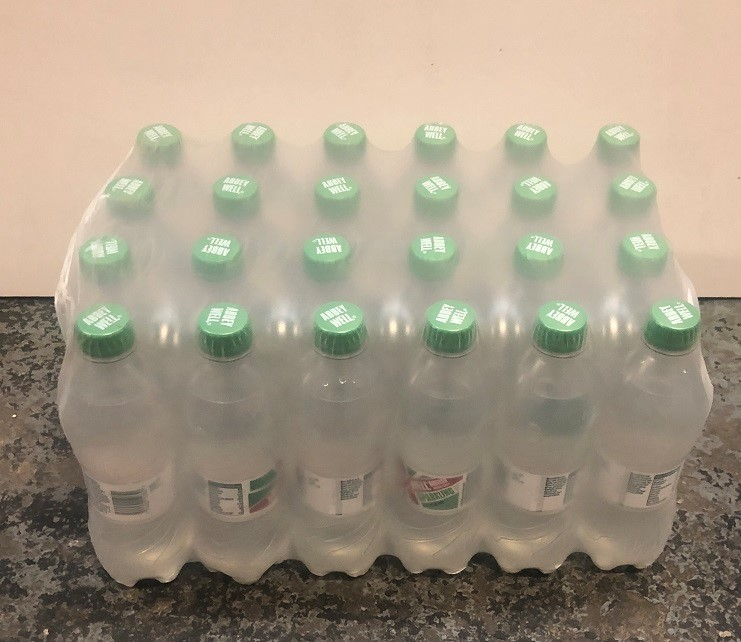 Lot 48 - 1 LOT TO CONTAIN 12 LARGE PACKS OF ABBEY WELL SPARKLING WATER / 24 BOTTLES PER PACK / BEST BEFORE:
