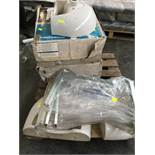 1 LOT TO CONTAIN ASSORTED CERAMICS / INCLUDING SINK BASINS, AZURE CHAIRBRICK REPLACMENT BOX, BATH