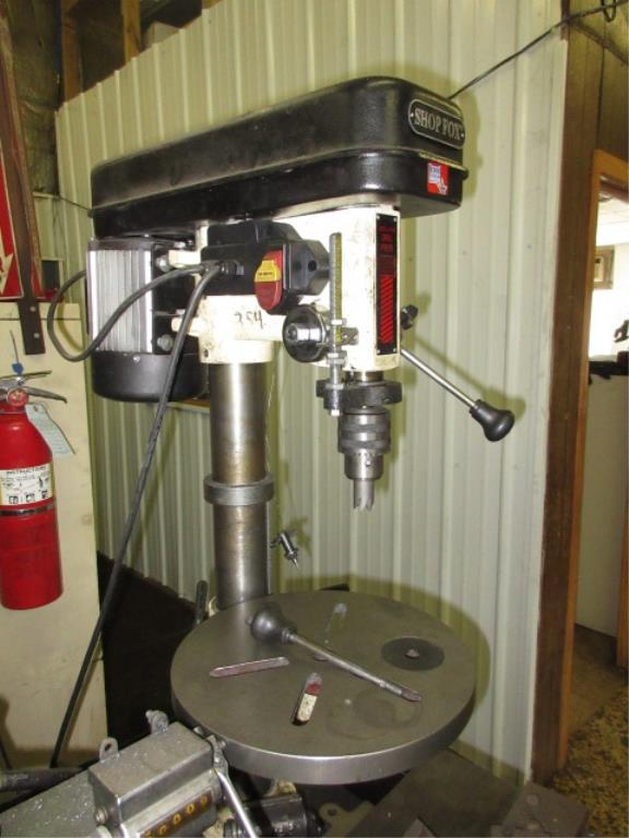 Shop fox drill press shop fox w1668 13 bench type for 13 floor drill press