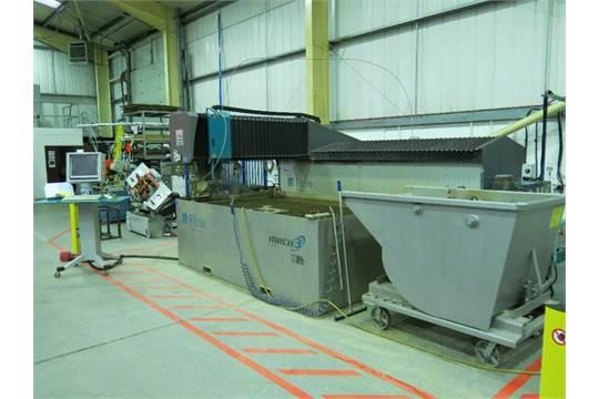 Flow Mach 3 2513b model 044430-1 CNC water jet cutting table
