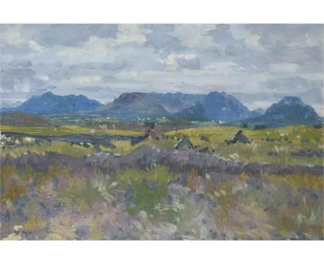 λMaurice MacGonigal (Irish 1900-1979)Landscape towards LetterfrackOil on boardSigned (lower left)51.5 x 76.5cm (20¼ x 30 in.