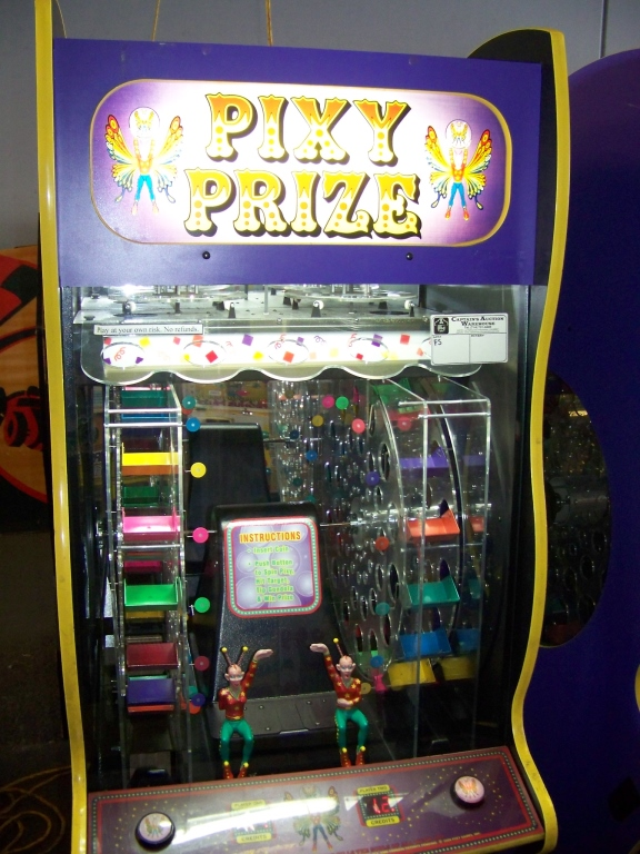 Lot 53 - PIXY PRIZE CAPSULE PRIZE VENDING MACHINE Item is in used condition. Evidence of wear and