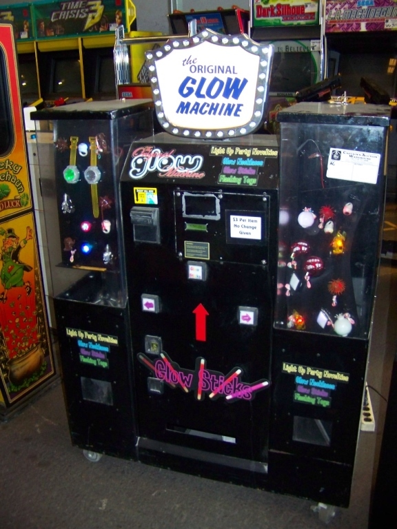 Lot 4 - THE ORIGINAL GLOW MACHINE VENDING KIOSK Item is in used condition. Evidence of wear and commercial