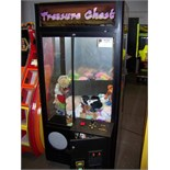 """30"""""""" TREASURE CHEST PLUSH CLAW CRANE MACHINE Item is in used condition. Evidence of wear and"""