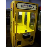 """42"""""""" SMART CLEAN SWEEP YELLOW PLUSH CRANE MACHINE Item is in used condition. Evidence of wear and"""