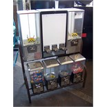NORTHWESTERN 7 HEAD COMBO BULK VENDING RACK Item is in used condition. Evidence of wear and