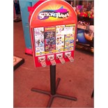 4 SELECT ALL STAR STICKER TATTOO VENDING MACHINE Item is in used condition. Evidence of wear and