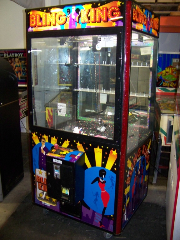 """Lot 26 - 42"""""""" BLING KING JEWELRY CLAW CRANE MACHINE Item is in used condition. Evidence of wear and"""