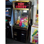 """24"""""""" TOY CHEST PLUSH CLAW CRANE MACHINE OM Item is in used condition. Evidence of wear and"""
