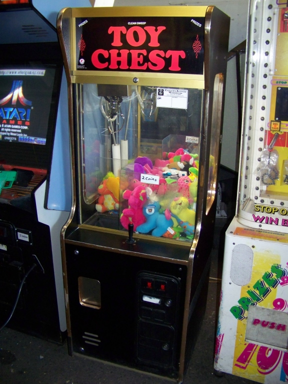 """Lot 45 - 24"""""""" TOY CHEST PLUSH CLAW CRANE MACHINE OM Item is in used condition. Evidence of wear and"""