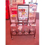 NORTHWESTERN COMBO CANDY CAPSULE RACK Item is in used condition. Evidence of wear and commercial