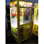 """30"""""""" TOY TAXI PLUSH CLAW CRANE MACHINE Item is in used condition. Evidence of wear and commercial"""