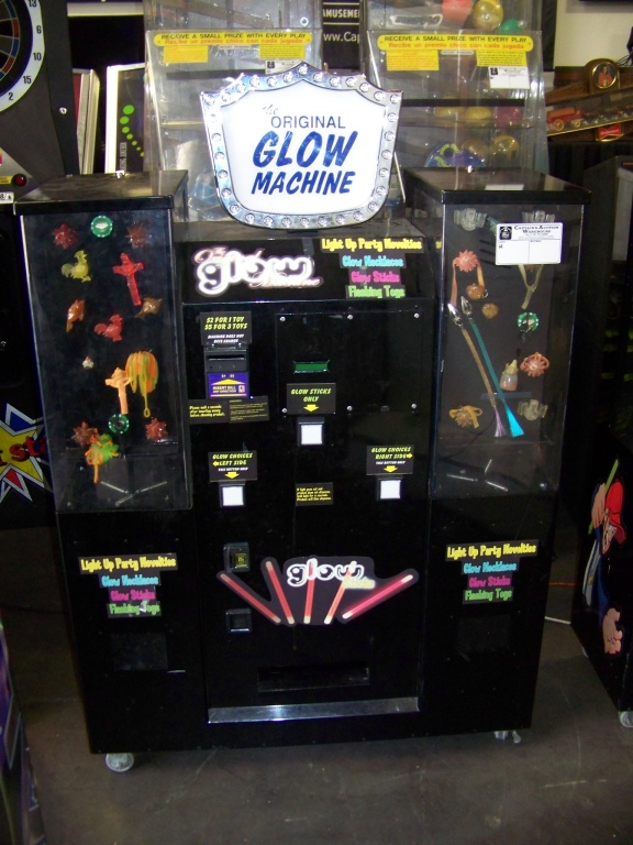 Lot 2 - THE ORIGINAL GLOW MACHINE VENDING KIOSK Item is in used condition. Evidence of wear and commercial