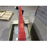 """6ft 110 V Conveyor. 4.5"""" Wide Track w/ Rails and Guides. Adjustable Height and Speed."""