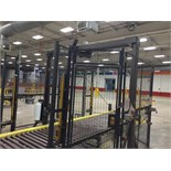 Orion Octopus Pallet Wrapper Flex Series RTA Safety Cage Light Curtain 15' Full Pallet Conveyor.
