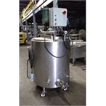 Cherry Burrell 150 Gallon Jacketed Tank with Scrape Surface Agitation, S/N F-546-88-1, Hinged Lid,
