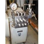 Manton Gaulin Homgenizer, Model 200 M3 3TBS, S/N 2849436, 3,000 PSI, Visc. At 40C 198/220, Visc.