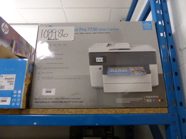 Lot 2056 - HP Officejet Pro 7730 wide format colour printer in box