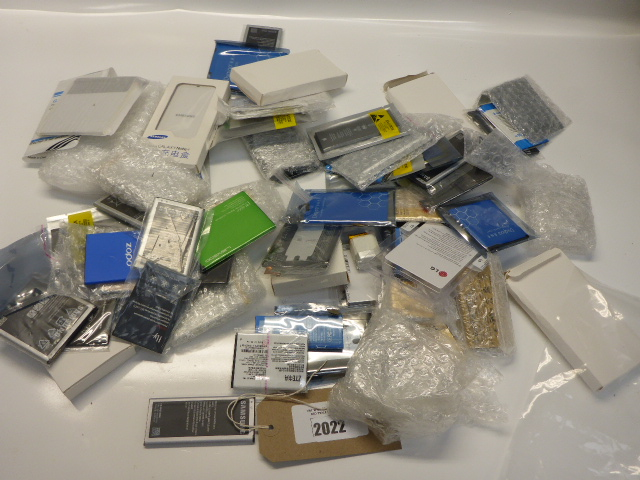 Lot 2022 - Bag containing mobile phone replacement batteries.