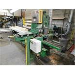 RAMTECH 4 HEAD SANDER, W/ HYDRAULIC OUTFEED W/ PHOTO EYES TO KICKER OUTFEED, SETUP STAND, SPARE