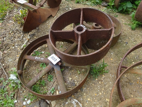 Lot 853 - 3 ornate wheels