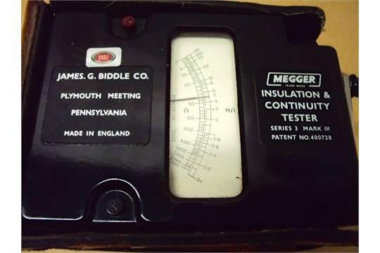 Biddle Megger Insulation Continuity Tester Series 3 Mark Iii 266