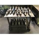 """Metal Shop Cart (24-3/4"""" x 3' x 32"""" High); w/ Tooling"""