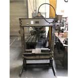 "F.A. Nugier 60 Ton H-Frame Hydraulic Press, Model H60, 36"" Width Between Uprights, S/N 151122"