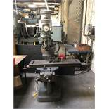 """Bridgeport Vertical Mill, 9"""" x 42"""" Table, 60 to 4200 RPM, 1.5 HP, S/N 169145; Comes w/ 3"""" Machine"""