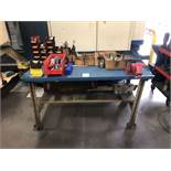 """Metal Table (5' W x 34"""" D x 34"""" High) w/ Wilton 5"""" Vise; Comes w/ All Contents"""