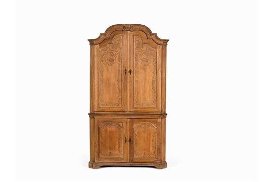 Aachen Cabinet With Rocaille Carvings Oak Germany 18th C Oak