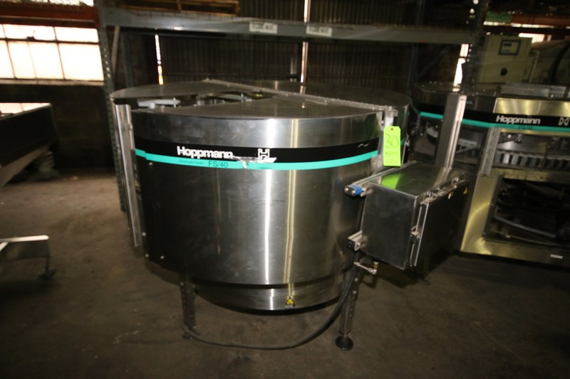 Lot 30 - Hoppmann Centrifugal Feeder, M/N FS/40, Mounted on S/S Frame with Hinge Lids (LOCATED IN FT.