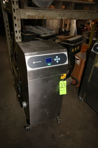 Lot 23 - Dimino Ink Jet Coder, M/N DPX1000Sator, S/N 082243-0677, 120 Volts, with Digital Display, Mounted on