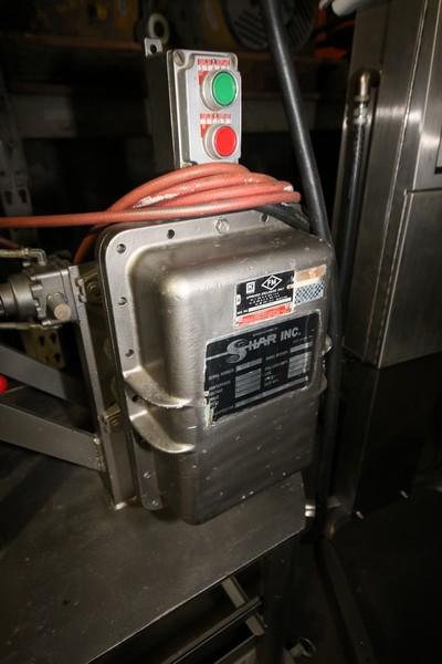 "Lot 10 - Shar Inc. S/S Portable Agitator, M/N D-100 SP, S/N 6609180, 230 Volts, 10 hp Motor, 31"" Lift,"