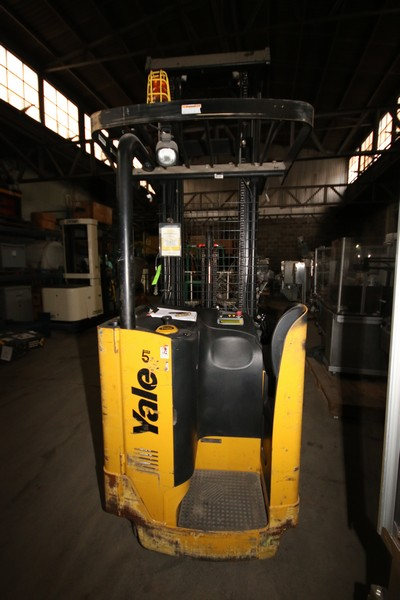 Lot 49 - Yale 3,500 lb. Stand-Up Electric Forklift, M/N NR035EANL36TE119, S/N D815N02324F, with 8,343 Hrs,