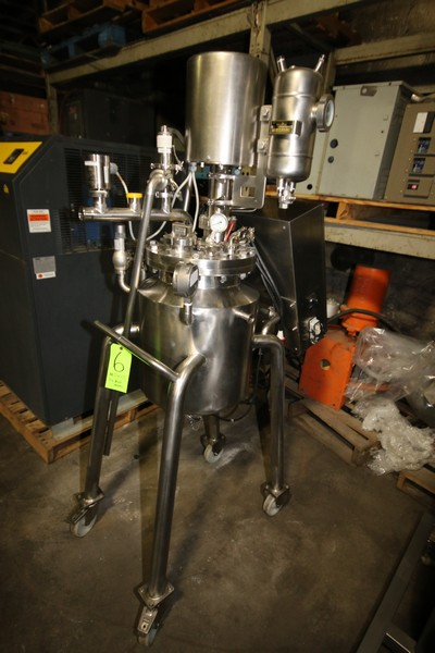 Lot 6 - Barcelona S/S Reactor Tank, S/N 2105137, Mounted on S/S Portable Frame, with Anderson Gauges, S/S
