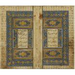 Arte Islamica A Timurid finely illuminated bifolio frontespiece by a Jami Ganjur Persia, possibly S